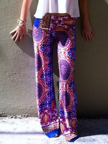 Beautiful Floral Wide Leg Bottom Casual Pants