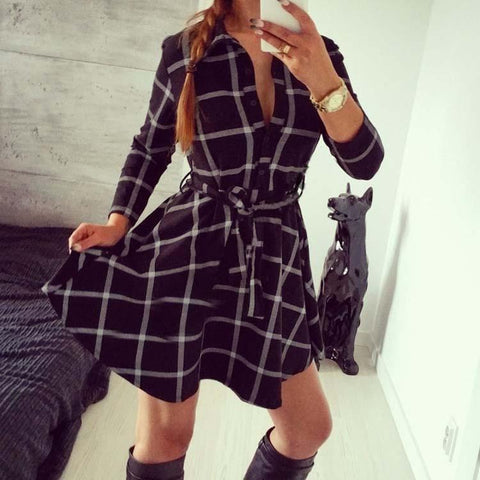 Sunset City Plaid Dress