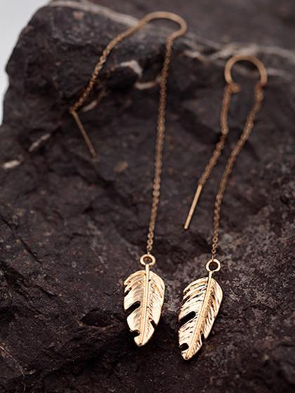 Delicate Leaves Pendent Earring