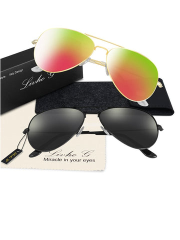 Two Pieces Popular Fashion Ultra-violet Ray Intercepting Sunglasses