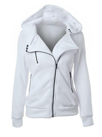 Sport Simple Zipper Hoodie Coat