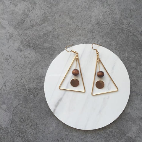 Vintage Geometric Pendants Earring