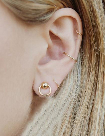 Minimalist Simple Circle Style Earrings