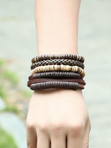 Retro Multilayer Leather Bracelet Accessories