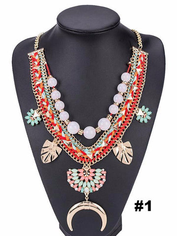 Vintage Exaggerated Necklaces Accessories