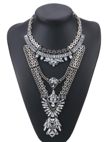 Bohemia Exaggeration Crystal Necklaces Accessories