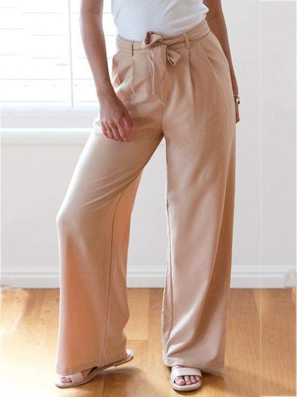 Fashion Champain Casual Wide leg Pants Bottoms