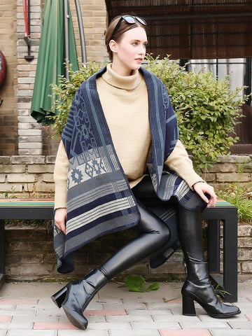 Fashion Geomertry Cape Scarf