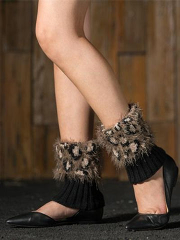 Fashion Nap Leopard Leg&Ankle Warmers