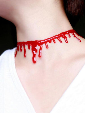 3PCS Halloween Decoration Horror Blood Drip Vampire Fancy Necklace