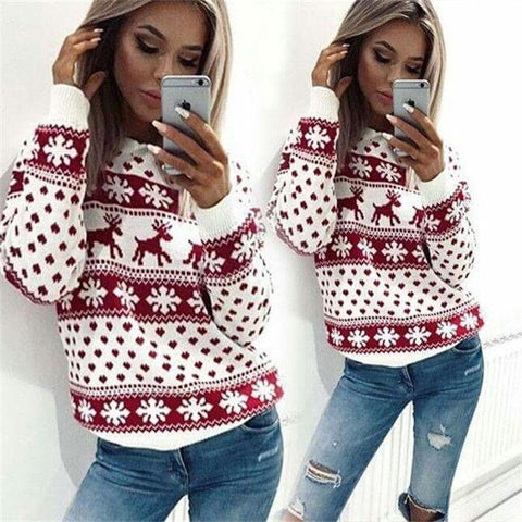 Warm Christmas Long Sleeve Sweater