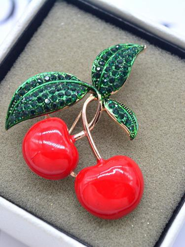 Christmas Cherry Brooch Accessories