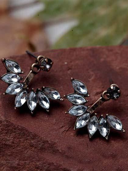 Fashion Little Flower Crystal Earrings