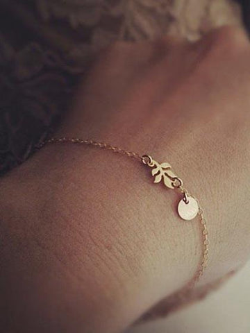 Fashion Leaf Alloy Bracelet
