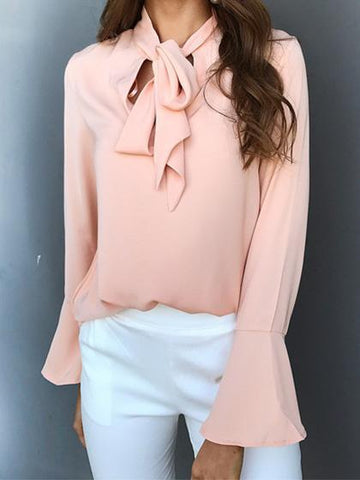 Fashion Elegant Flared Sleeve Loose Blouse