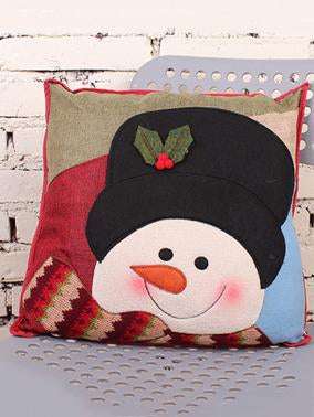 Lovely Christmas Snowman Throw Pillow Decoration Accessories