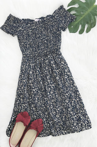 Sexy Bateau Splash Print Off Shoulder Dress