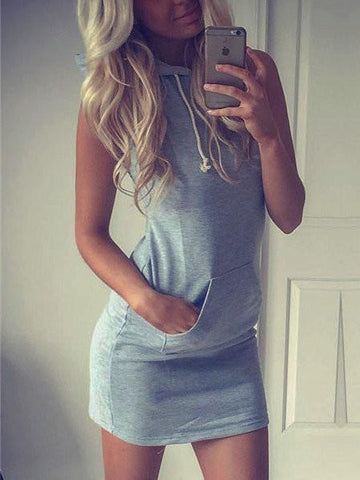 Casual Daily Solid Color Bodycon Dress