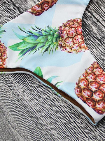 Ever So Lovely bandage Pineapple Bikini Set