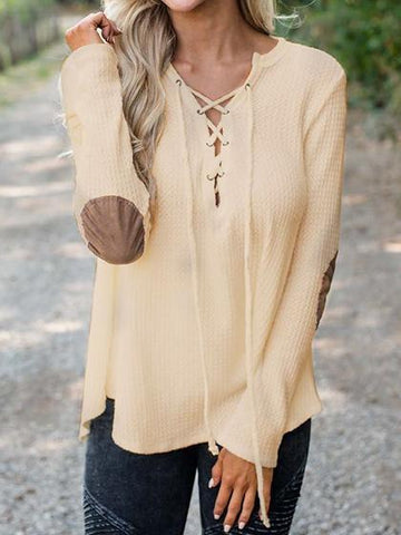 Stylish Bandage Spliced Top