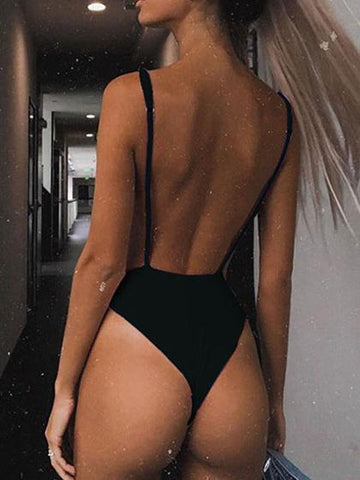 Sexy Just Watch Me Black Bikini Set