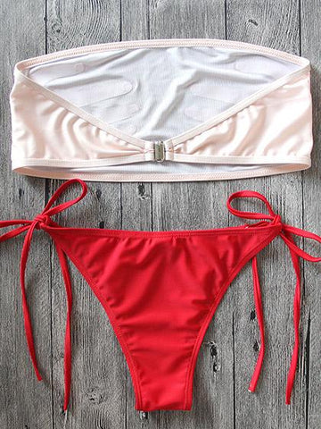 Ring Me Up Bandage Mesh Bikini Set