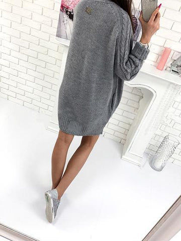 Fashion Open Collar Daily Solid Color Cardigan