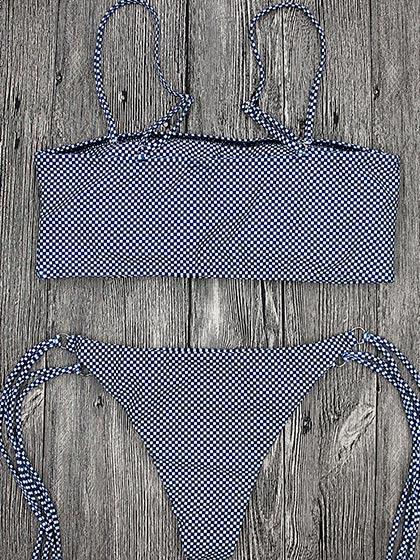 Come With Me Gingham Bikini Set