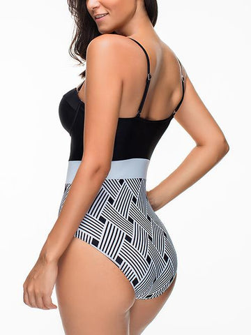 Beach Dream Gingham One Piece Push Up Swimsuit