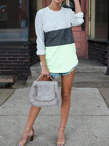 Stylish Spliced  Casual Multi color Top