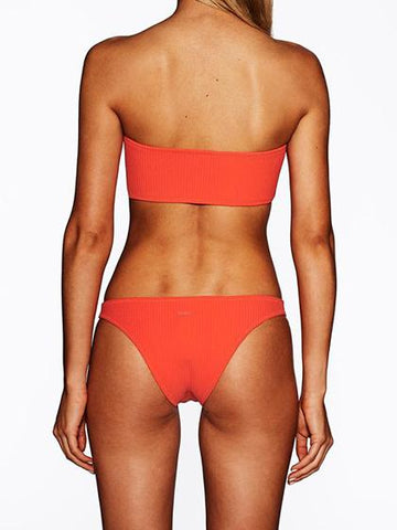 Minimalist Red Bikini Set