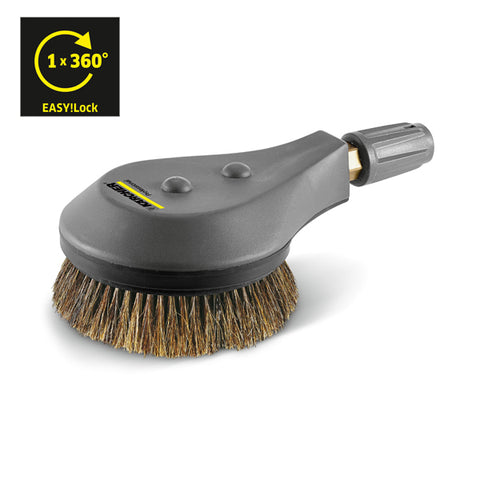 KARCHER Rotating Washing Brush, 800 l/h, Natural Fibre Bristles EASY!Lock