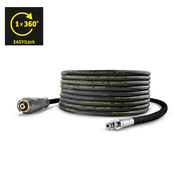 KARCHER High Pressure Hose, 15 m DN 8, AVS Trigger Gun Connector, EASY!Lock 61100330