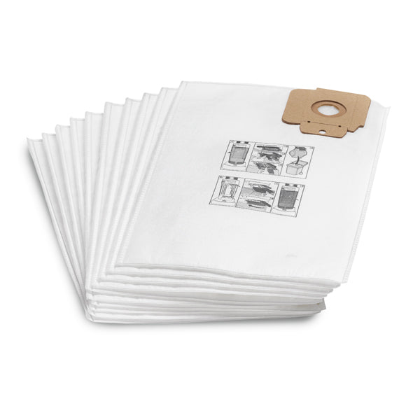 KARCHER 10 Pack Filter 3 Ply Vacuum Bags For T 10/1 & T 12/1