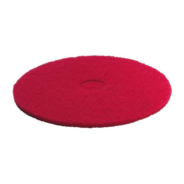 KARCHER 5 Pk Of Pads, Medium-Soft, Red, 356 mm 63690030