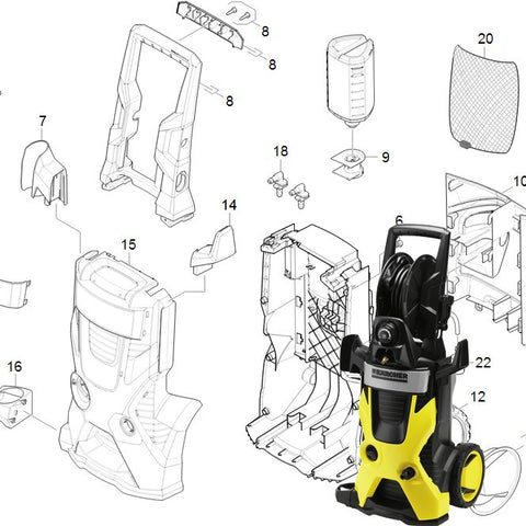 KARCHER K5.700 Spare Parts Diagrams 1181302