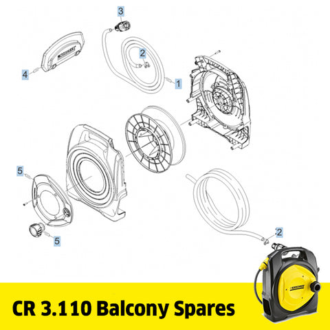 KARCHER CR 3.110 Balcony Reel Spare Parts