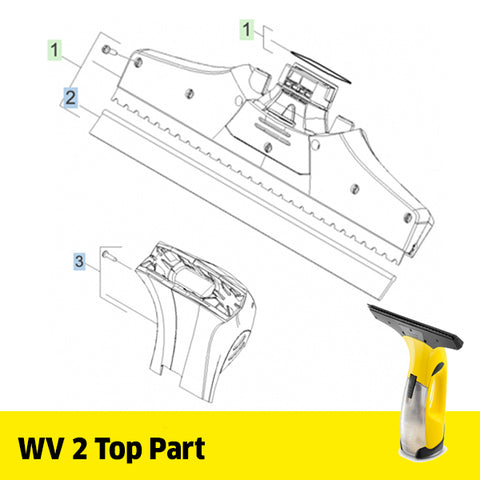 KARCHER WV 2 Spare Parts Top Part
