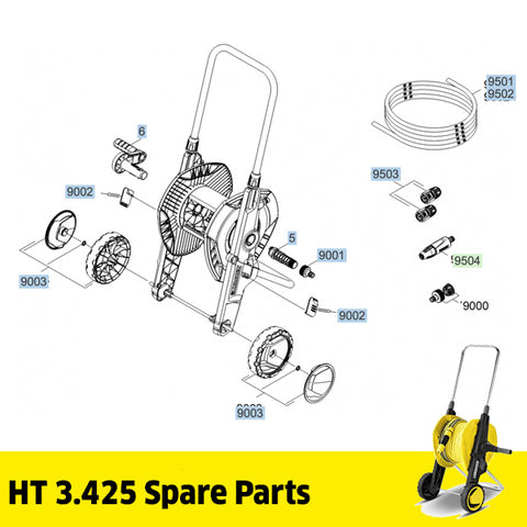KARCHER HT 3.425 Hose Trolley Spare Parts