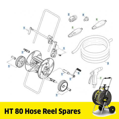 KARCHER HT 80 Hose Trolley Spare Parts