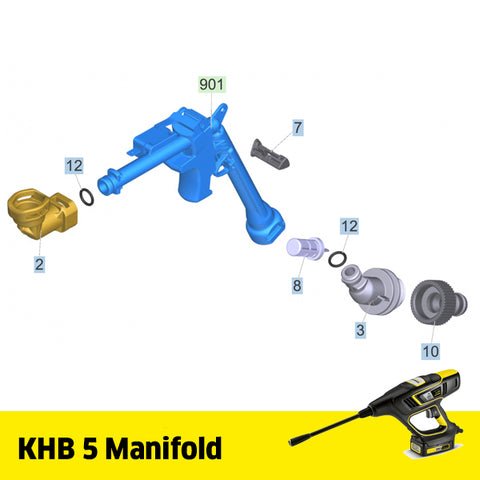 KARCHER KHB 5 Spare Parts Manifold