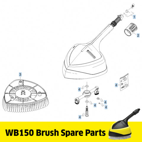 KARCHER WB150 Brush Spare Parts