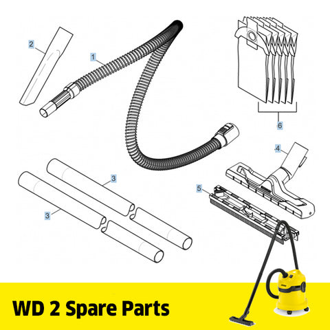 KARCHER WD 2 Spare Parts Tools