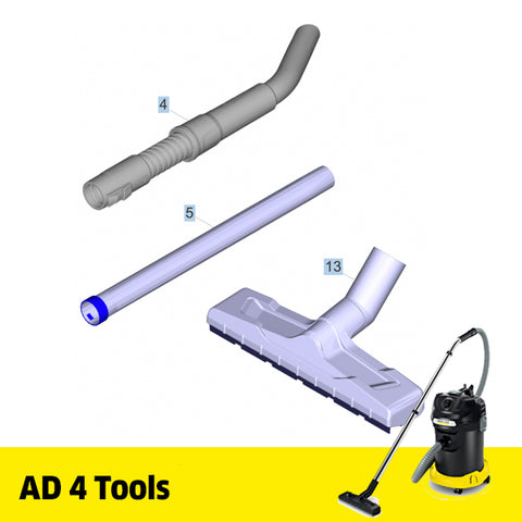 KARCHER AD 4 Ash Vacuum Spare Parts Tools