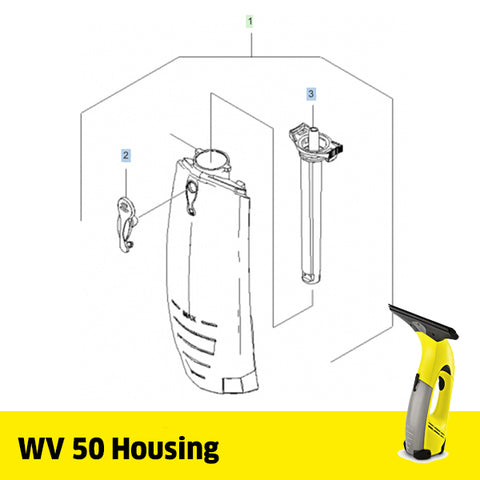 KARCHER WV 50 Spare Parts Housing