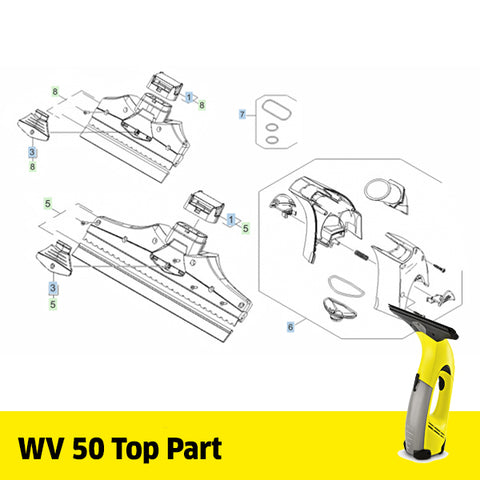 KARCHER WV 50 Spare Parts Top Part