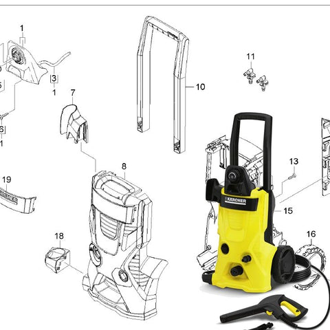 KARCHER K4.600 Spare Parts Diagrams 1180603
