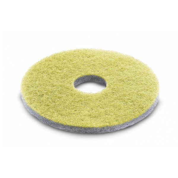 KARCHER 5 Pk Of Diamond Pads, Medium, Yellow, 356 mm 63712510