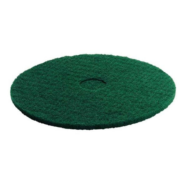 KARCHER 5 Pk Of Pads, Medium-Hard, Green, 356 mm 63690020
