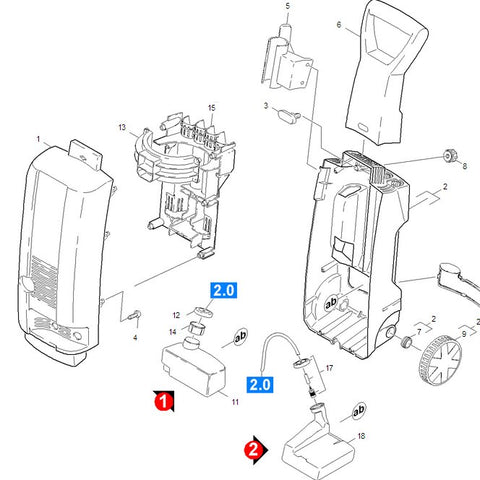 KARCHER K3xx Spare Parts Diagrams 1423245